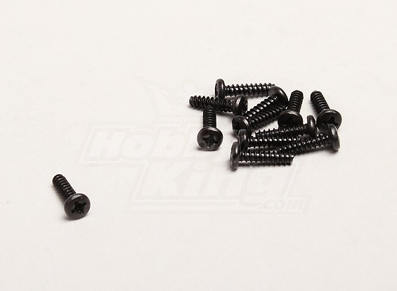 Self Tapping 3x12mm Cross Screw (12pcs/bag) - Turnigy Trailblazer 1/8