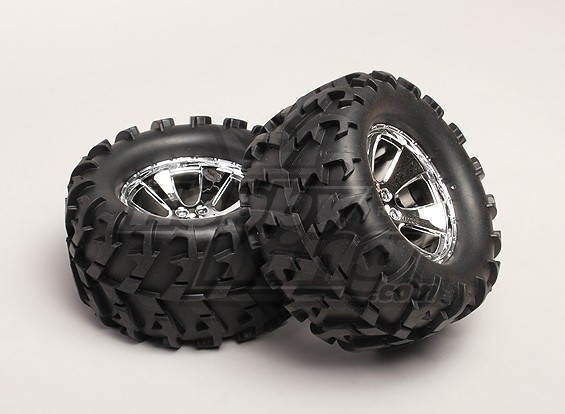 Tires and Wheels (2pcs/bag) - Turnigy Trailblazer 1/8