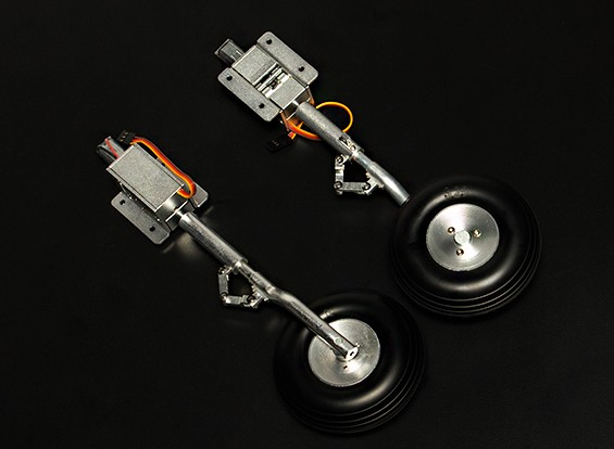 Turnigy Alloy Servoless 90 Degree Retractable Undercarriage Offset Sprung Oleo (1.20 Class P-51)