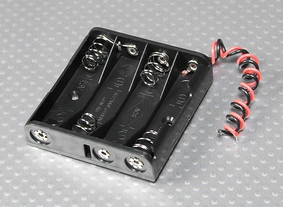 Battery Holder 4 x 'AAA'