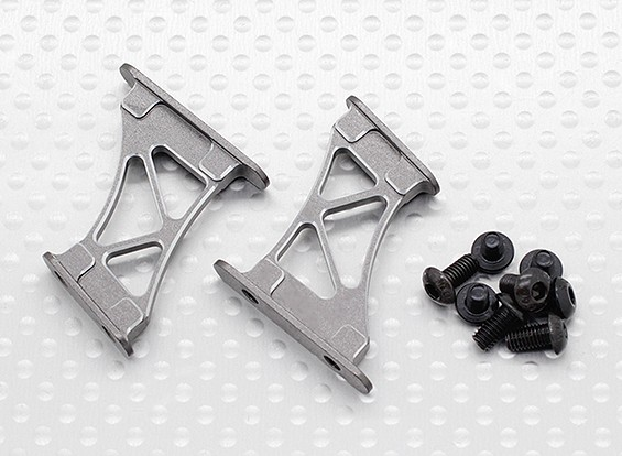 1/10 Aluminum CNC Tail/Wing Support Frame-Medium (Titanium)