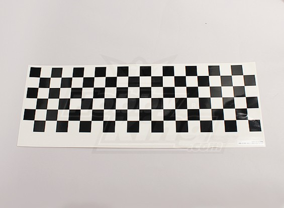 Decal Sheet Chequer Pattern Black/Clear 590mmx180mm