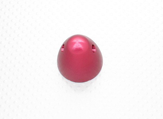 """30mm Aluminum spinner prop nut 5/16""""-24 (Anodised Red Finish)"""