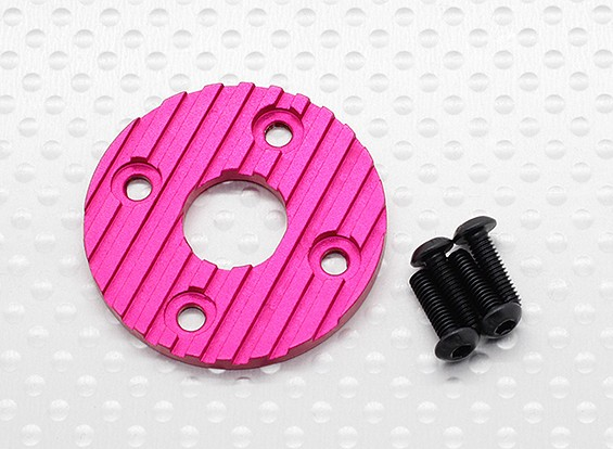 Aluminum CNC Motor Heatsink Plate 36mm (Purple/Red)