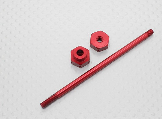 1/10 Scale Aluminum Wheel Carrier 12mm - Red