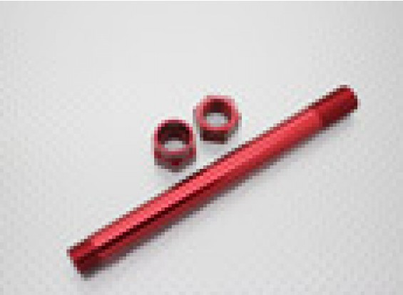 1/8 Scale Aluminum Wheel Carrier 17mm - Red