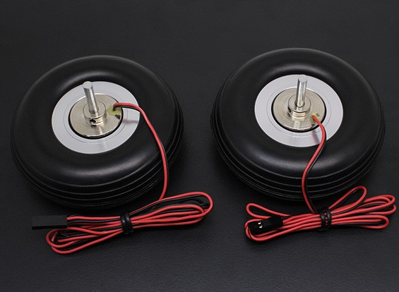 """Turnigy Electric Magnetic Brake Wheels (No Controller) 80mm (3.0"""") Wheel (2pc)"""