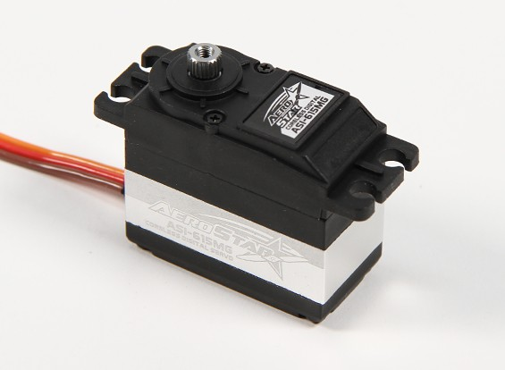 AeroStar™ ASI-615MG Coreless DS/MG Servo 16.83kg / 0.126sec / 61g
