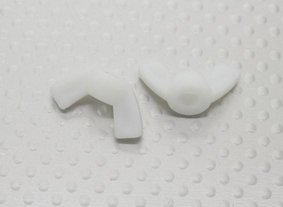 Nylon Wing Nuts M5 - 2pcs