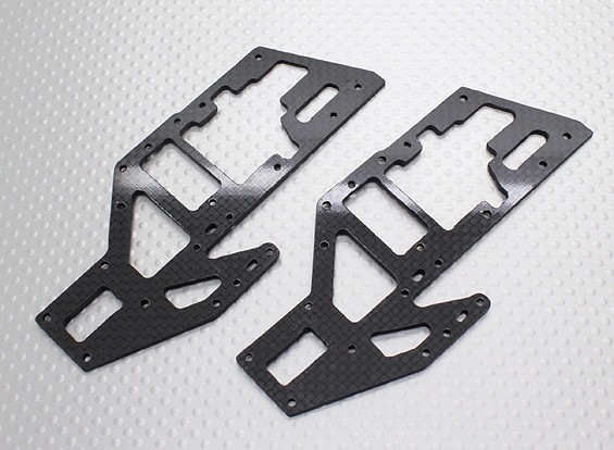 Carbon Fibre Upper Main Frame Set - Walkera V450D01 FPV Flybarless Helicopter (2pcs)