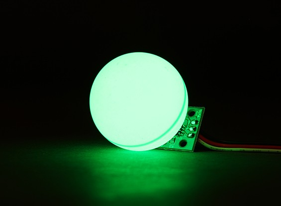 LED PCB Strobe Green 3.3~6.0V with Ball Diffuser