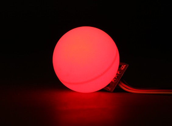 LED PCB Strobe Red 3.3~6.0V with Ball Diffuser