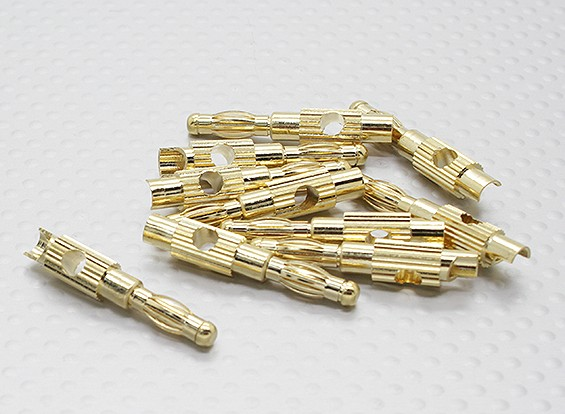 4mm Gold Plated Banana Plug (10pc)