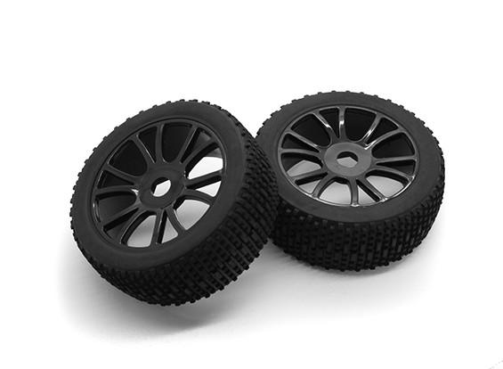 HobbyKing 1/8 Scale Scrambler Y-Spoke Wheel/Tire 17mm Hex (Black)