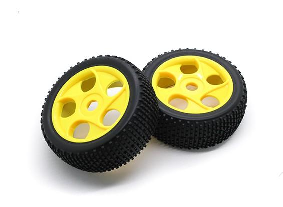 HobbyKing 1/8 Scale K Spec Star Spoke Wheel/Tire 17mm Hex (Yellow)