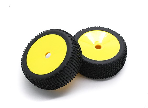 HobbyKing 1/8 Scale K Spec Rally Dish Wheel/Tire 17mm Hex (Yellow)