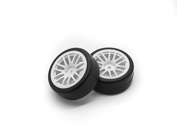 HobbyKing 1/10 Wheel/Tire Set  Y-Spoke (White)  RC Car 26mm (2pcs)