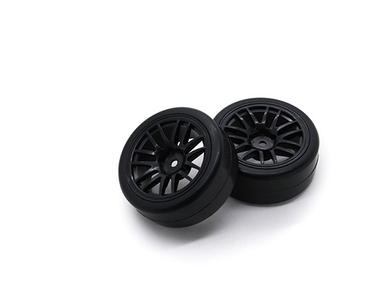 HobbyKing 1/10 Wheel/Tire Set Y-spoke (Black) RC Car 26mm (2pcs)