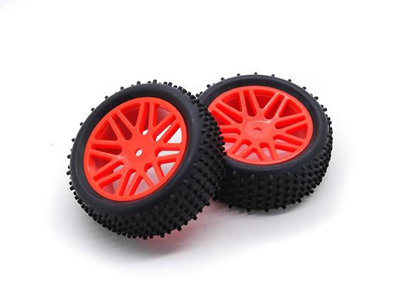 HobbyKing 1/10 Aerator Y-Spoke (Red) Wheel/Tire 12mm Hex (2pcs/Bag)