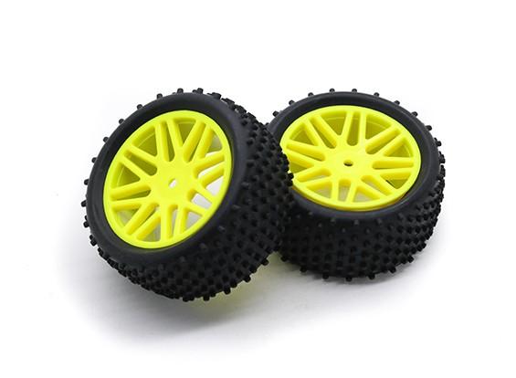 HobbyKing 1/10 Aerator Y-Spoke Rear (Yellow) Wheel/Tire 12mm Hex (2pcs/Bag)
