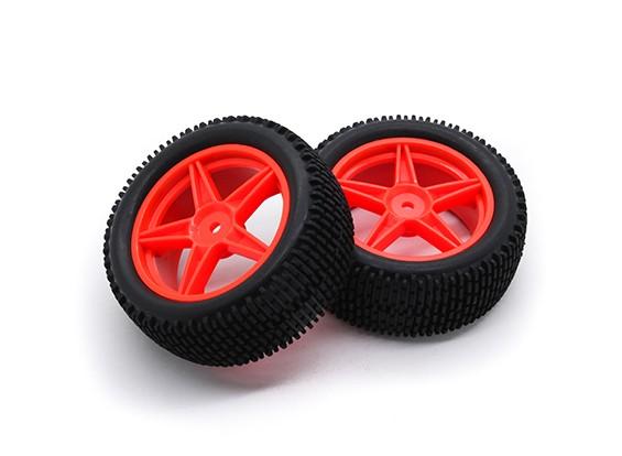 HobbyKing 1/10 Gekkota 5-Spoke (Red) Wheel/Tire 12mm Hex (2pcs/bag)