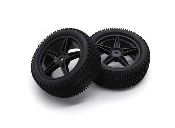 HobbyKing 1/10 Gekkota 5-Spoke (Black) Wheel/Tire 12mm Hex