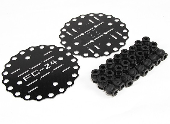 Vibration and Shock Absorbing Mounts 2400g (A24plus24x100g)