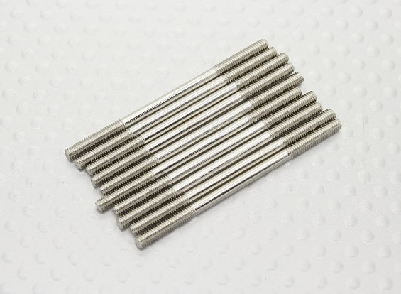 M2.5 x 45mm Steel Push Rod (10pc)