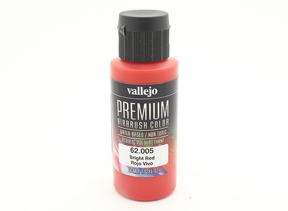 Vallejo Premium Color Acrylic Paint - Bright Red (60ml) 62.005