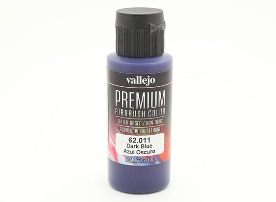 Vallejo Premium Color Acrylic Paint - Dark Blue (60ml) 62.011