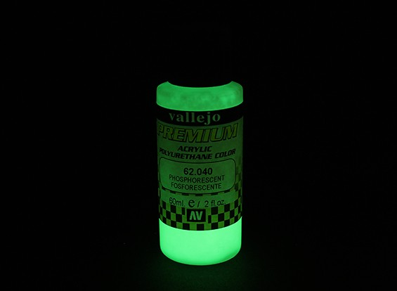 Vallejo Premium Color Acrylic Paint - Phosphorescent (60ml) 62.040