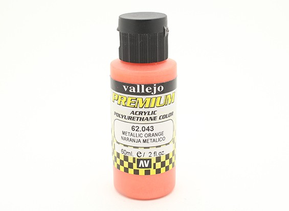 Vallejo Premium Color Acrylic Paint - Metallic Orange (60ml) 62.043