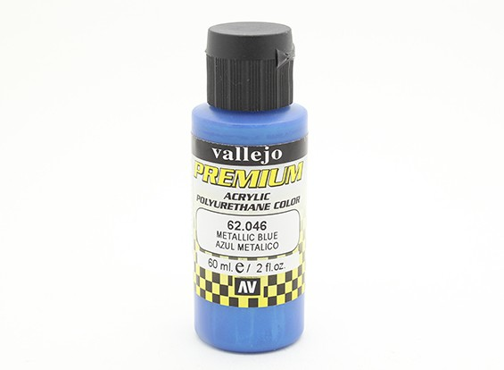 Vallejo Premium Color Acrylic Paint - Metallic Blue (60ml) 62.046
