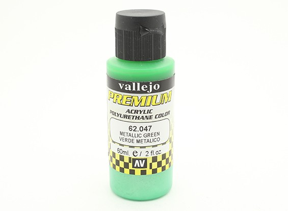 Vallejo Premium Color Acrylic Paint - Metallic Green (60ml) 62.047