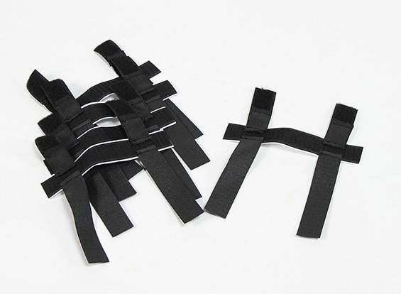 Hook & Loop / Elastic Double Securing Strap (Self Adhesive) (5pcs)