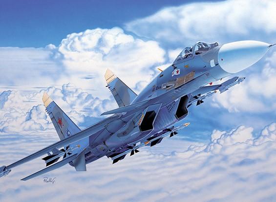 Italeri 1/72 Scale Sukhoi Su-27 Flanker Plastic Model Kit