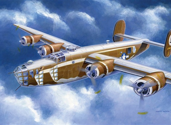 Italeri 1/72 Scale B-24D Liberator Plastic Model Kit