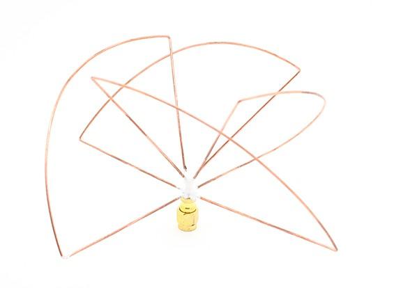 Circular Polarized 1.2ghz Receiver Antenna (RP-SMA) (LHCP) (Short)