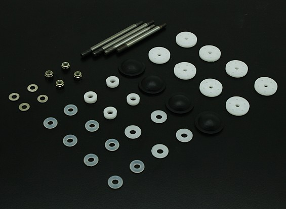 Shock Piston and Shaft (4sets) - BSR 1/8 Rally