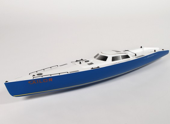 RC Ocean Going Racing Yacht 2.2m - Hull (Includes Two Servos)