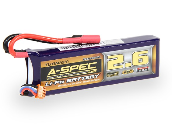 Turnigy nano-tech A-SPEC G2 2600mah 3S 65~130C Lipo Pack