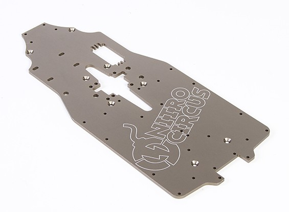 4mm 6061 Aluminum Chassis - Nitro Circus Basher 1/8 Scale Monster Truck