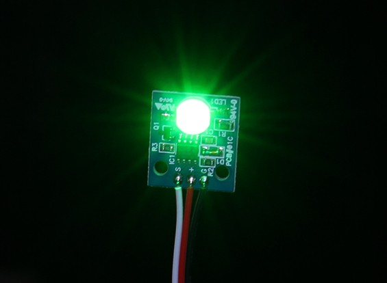 Hobbyking LED PCB Strobe Ball (12V) Green