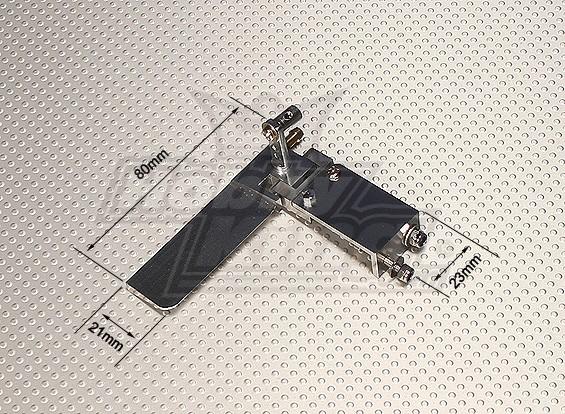 80mm Aluminum Rudder Set