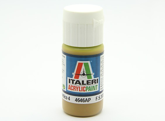 Italeri Acrylic Paint - Flat Giallo Mimetico 4 (4646AP)
