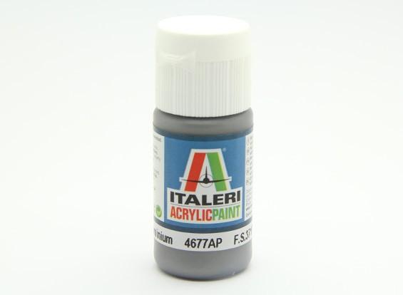 Italeri Acrylic Paint - Metal Flat Aluminum (4677AP)
