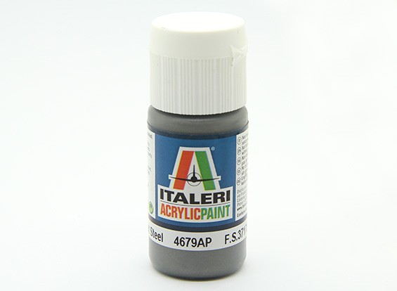Italeri Acrylic Paint - Metal Flat Steel (4679AP)