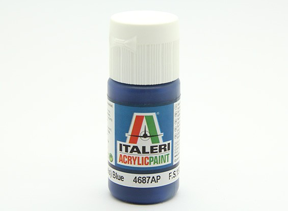 Italeri Acrylic Paint - Gloss (Blu Angels) Blue (4687AP)