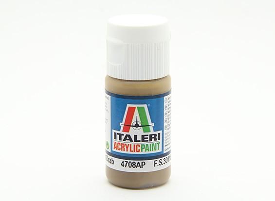 Italeri Acrylic Paint - Flat Field Drab (4708AP)
