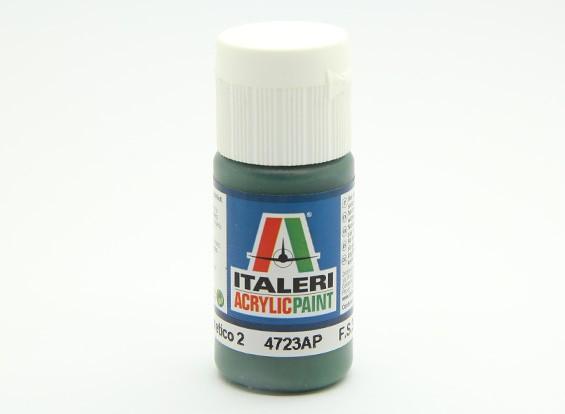 Italeri Acrylic Paint - Flat Verde Mimetico 2 (4723AP)